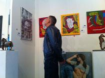 """von der Galeristin Jackie Mauersberger beim AAF Rom ausgestellte Collalge """"Scales"""""""