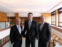 Wollen die Volksbank im Solling in eine noch erfolgreichere Zukunft führen: Daniel Scholz, Dirk Hesse und Klaus-Uwe Fischer (v.l.)
