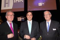 Erhielten 90 Minuten Aufmerksamkeit: Prof. Dr. Ulrich Lehner, David McAllister und Dr. Hannes Rehm (v.l.).