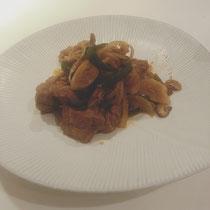 ラムと野菜のスパイス炒め