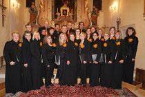 Nach dem Konzert in der Pfarrkirche Hagenberg