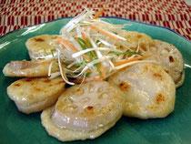 加賀野菜レンコンチップ調理例
