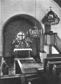 Chorraum der Kirche um 1930