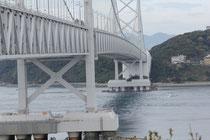 道の駅から大鳴門橋を望む