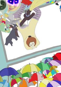 """""""Umbrelladreams"""", Künstler: Kolja Rijk Kohnen (✝ 2012)"""