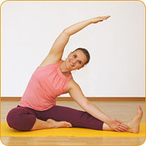 Yoga-Haltung Seitbeuge