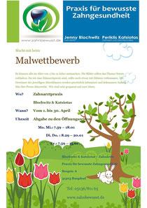 Malwettbewerb zu Ostern für Kinder Zahnarzt Burgdorf