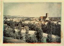 Vista di Agen, Francia, Louis Ducos du Hauron, 1877.