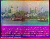 Un'immagine stereografica a colori del 1898 di Frederic Ives, come ricostruita dai negativi