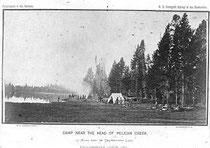Survey Camp, Yellowstone National Park, William Henry Jackson, 1871.