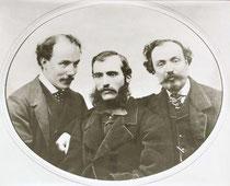 Alinari Archive, Immagine dei tre Fratelli Alinari, fondatori della Fratelli Alinari, 1856 circa, Archivi Alinari