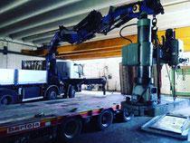 Rimini gru noleggio camion gru e bilico per carico e trasporto macchinari da Rimini a Santarcangelo