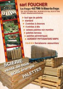 Plaquette présentation Scierie Foucher