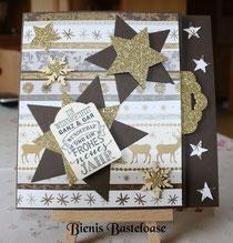 Weihnachtskarten in Gold
