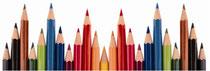Spitzengruppe Schreibender, farbig