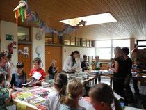 Die Buchausstellung fand am Elternsprechtag statt