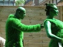 théâtre de rue performance Aline Siffrt Arts plastiques art contemporain homme et nature besançon france écologie