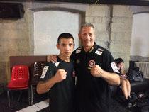 www.boxringzuerichsee.ch - Trainer Däne Ryter mit Boxschützling Mujtaba
