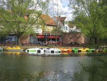 Ufercafe Gischler, Boats & Bikes, Bootshaus Marburg