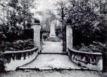 Der Friedhof kurz nach dem Krieg