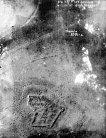 Luftaufnahme Fort Souville 1916
