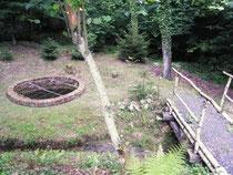 Der restaurierte Brunnen