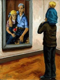 """Linda Apple, """"Penthouse View - father & son"""" 2008"""