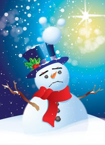 depressed snowman