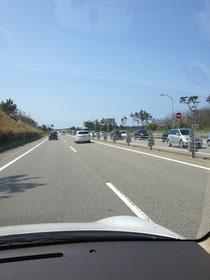 のと里山海道渋滞の図