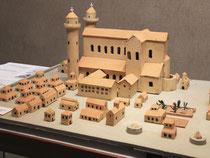 Ein Modell der geplanten mittelalterlichen Klosterstadt in Meßkirch. Foto: Marc Herwig/Archiv