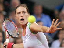 Andrea Petkovic schied an der Seite ihrer Doppelpartnerin Angelique Kerber aus. Foto: Marijan Murat