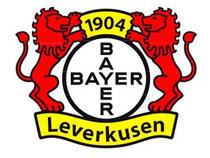 Das Logo des Fußball-Erstligisten Bayer 04 Leverkusen. Foto: