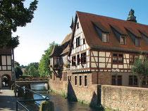 Fachwerkhäuser dominieren das Stadtbild von Erbach. Foto: Stadtmarketing Erbach