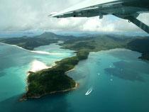 Flug ins Paradies: Mit einer Chessna geht es zu den Whitsunday Islands. Foto: Stefan Weißenborn