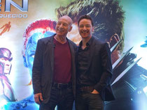Patrick Stewart (l.) und James McAvoy bei der Premiere in Sao Paulo. Foto: Sebastião Moreira