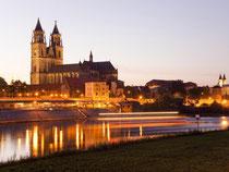 Schnittpunkt von Nord- und Südroute - und auch ein guter Ausgangspunkt für Touren auf der Straße der Romanik - ist die Landeshauptstadt Magdeburg mit ihrem Dom. Foto: IMG Sachsen-Anhalt mbH/Michael Bader