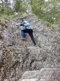 Klettern am unteren Walchen (Falco)