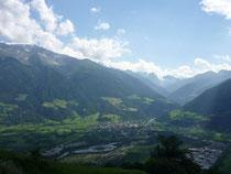 Blick ins Vinschgauer Tal