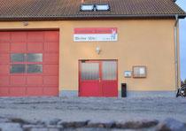 Das Werbener Feuerwehrgerätehaus am alten Bahnhof. Foto: Hoppe
