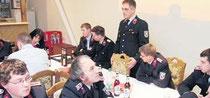 Wehrleiter Michael Nix gab einen sehr detaillierten und aussagekräftigen Bericht über die erfolgreiche Arbeit der Wehr.