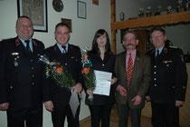 VerbGemWL Ronny Hertel, Michael Nix, Kristine Scheffler, VerbGem BM Eike Trumpf und KBM Dieter Bolle (v.l.)(Foto V. Langner)