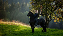 © RossFoto Dana Krimmling - Pferdefotografie - Fotografie vom Wanderreiten - Jagdreiten - Falkner