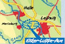 Die Elster-Luppe-Aue liegt zwischen Halle und Leipzig.