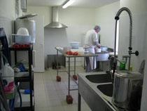 salle d'abattage de l'élevage d'escargots