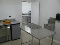 salle de conditionnement de l'élevage d'escargots