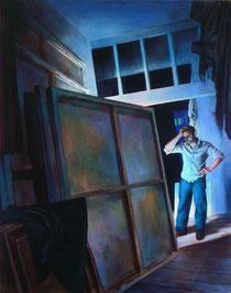 """Lukas Johannes Aigner, """"Späte Erkenntnis"""", Acryl auf MDF, 200x160, 2008"""