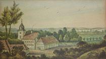 Leopold Ludwig Müller: Jagdschloss Tegel, 1803, Archiv Heimatmuseum Reinickendorf