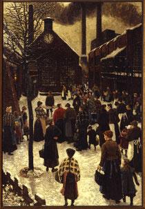 Hans Baluschek, Mittag bei Borsig, 1912, Kunstraum Kreuzberg / Bethanien