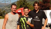 ATMAS 2011 Gesamtsieger Mario Scheibenstock (m.) mit  Robert Mayr (li.) als Zweit- sowie Walter Steiner (re.) als Drittplatzierter