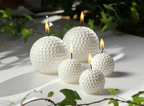 Golfball Kerze, Golfballkerze, Golfball Kerzen, Golfballkerzen
